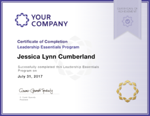 Your Company Sample Certificate