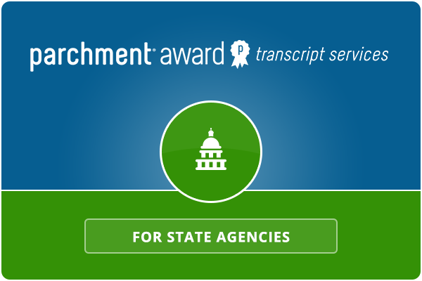Parchment Award Transcript Services for State Agencies