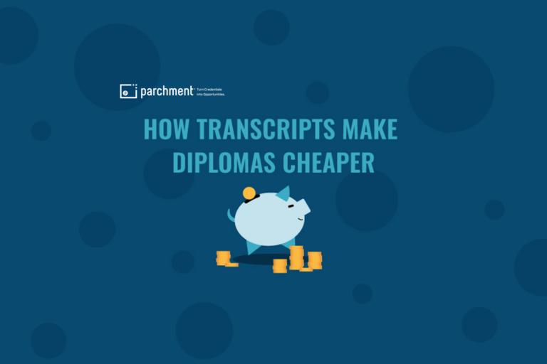 How Transcripts Make Diplomas Cheaper Infographic